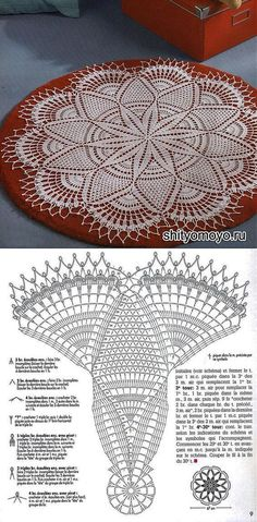 Crochet Doily Patterns with Diagrams Filet Crochet, Crochet Doily Diagram, Crochet Doily Patterns, Crochet Art, Thread Crochet, Crochet Motif, Crochet Designs, Crochet Crafts, Crochet Stitches