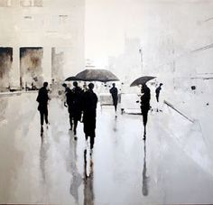 With an excellent use of a monochrome palette and sepia tones, Geoffrey Johnson creates an air of mystery with these atmospheric paintings...