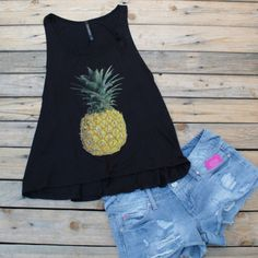 Pineapple Tops are now in black  $27 #cute #ootn #ootd #wiw #style #want #instalove #instafashion #fashionista #lookbook #fashionblogger #fashionblog #blog #selfie #pineapple #beach #beachmode by seasaltandhoneyboutique