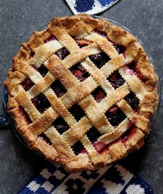 Packed with sweet late-summer plums and inky blackberries, this gorgeous pie has an appealing tartness that's tempered with just the right amount of vanilla and sugar, plus a truly show-stopping ruby color. While any type of top crust will work here, a traditional lattice looks particularly dramatic against the dark fruit.