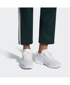 online retailer 2471b 7629e Adidas Zx Flux Mens Footwear White And Clear Grey Shoes
