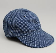 The Hill-Side CA1-271 - WABASH POLKA DOT 6-PANEL BALL CAP, INDIGO :: HICKOREE'S