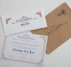 Letters from Santa and personalised Nice list certificates!
