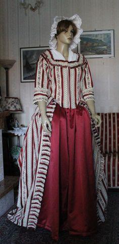 """ABITI VESTITI STORICI FEMMINILI 1700 Abito vestito storico femminile 1780 """"Robe a l'Anglaise"""""""