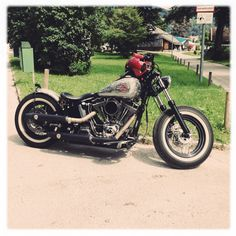 My Harley Softail Bobber, can't have enough pictures from it... :-)