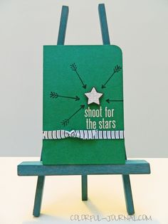 Shoot for the Stars, card for the #10minutecraftdashchallenge check about this on my blog. #cardmaking