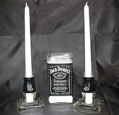 Hey, I found this really awesome Etsy listing at https://www.etsy.com/listing/185291765/unity-candle-set-jack-daniels-candle-set