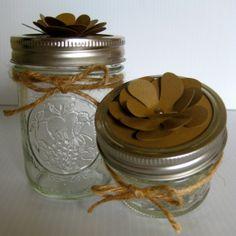FREE SHIPPING Blooming Flower Jar Lid Tags 24 piece Kraft Brown by BRANDYSINKDESIGNS, $12.00