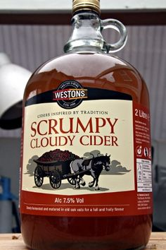 Westons Scrumpy Cloudy Cider. Looks amazing....  I don't often drink Cider.... but when I do.......I don't expect to remember.