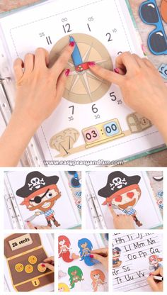Printable Pirate Quiet Book – Activity Book for Preschool and Kindergarten Print out our fun printable pirate quiet book and let your kids exlopore and practice a variety of basic skills amd concepts. Pirate Activities, Art Activities For Toddlers, Preschool Learning Activities, Baby Learning, Preschool Activities, Activities For Kids, Crafts For Kids, Pirate Preschool, Kindergarten Stem