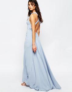Image 1 ofJarlo Sasha High Neck Maxi Dress With Train