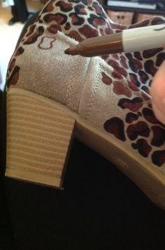 DIY Leopard Boots