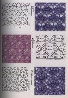 Crochet stitches -got one of moms books with a hundred different stitches shown like this!-kmm