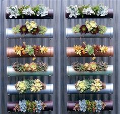 Sehe dir das Foto von Pusteblume mit dem Titel Vertikaler Garten aus PVC Rohren und andere inspirierende Bilder auf Spaaz.de an.
