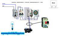 Esquemas eléctricos: Esquema para motor piscina con contactor, manual a...