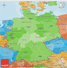 Political Shades Map of Germany Genealogy, Germany, Diagram, Politics, Shades, War, History, Ribe, Hannover