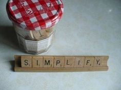 repurposed scrabble message- I've made these as desk plates for my teacher coworkers Scrabble Words, Scrabble Tiles, Projects For Kids, Artsy Fartsy, Mason Jars, Entertaining, Crafts, Repurposed, House
