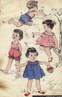 Toddler Romper, Sunsuit, Dress Vintage 1950s