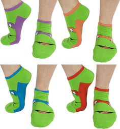 TMNT Socks :: 80's Tees :: Teenage Mutant Ninja Turtles :: I MUST HAVE THESE