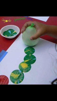 The Hungary caterpillar balloon painting