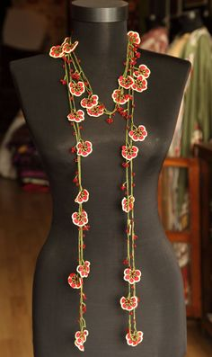 Turkish lacework necklace.