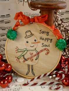 NEW Christmas Snowman embroidery E Pattern  by Hudsonsholidays, $6.99