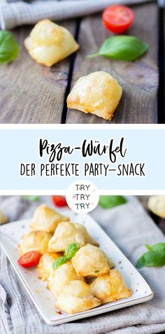 Der perfekte Party-Snack: Pizza-Würfel The perfect party snack: pizza cubes / party meals / snacks for the party Low Carb Meal, Keto Meal Plan, Snacks Für Die Party, Drink Party, Cubes, Beef Recipes, Cake Recipes, Party Recipes, Fingerfood Party