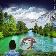 Reflet d'Erza sur l'eau.