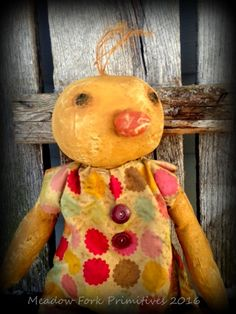 Primitive Folk Art Easter Duck--Folk Art Duck Doll-Spring-Handcrafted-Farmhouse-Hafair Team, Faap by MeadowForkPrims on Etsy