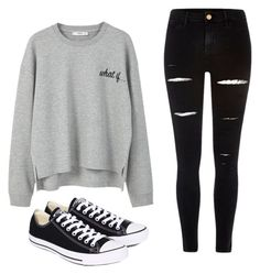 """Chill"" by mayaali on Polyvore featuring MANGO, River Island and Converse"