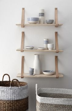 Leather strap shelf from Danish brand Hubsch. We love this clean scandinavian style, very cool – LO AND BEHOLD STORE
