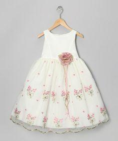 Ivory & Rose Embroidered Floral Dress - Toddler & Girls