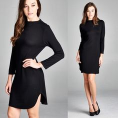 Long Sleeve T-Shirt Dress (em29) How to BUY, comment below with size and color. We'll create a separate listing for you to purchase. Thank you  Product Description: Dresses - 95% Rayon Crepe 5% Spandex Made in USA  Fit: S (4-6) M (8-10) L (12-14)  Shipping: Ships within 4-7 business days.  Terms: Final sale. 10% off bundles. No trades. No holds. We offer our lowest and best prices upfront. Just Modest Dresses Long Sleeve