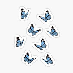 Butterflies Gifts & Merchandise | Redbubble Stickers Cool, Bubble Stickers, Printable Stickers, Laptop Stickers, Pegatinas Brandy Melville, Brandy Melville Stickers, Homemade Stickers, Butterfly Gifts, Blue Butterfly