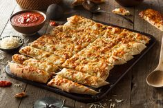 Here's a healthy snack or dinner side that's low carb and still tasty - cauliflower breadsticks!