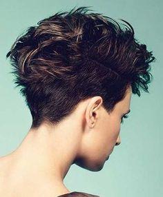 Brown Short Haircuts Back View