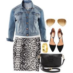 """Leopard - Plus Size"" by alexawebb on Polyvore"