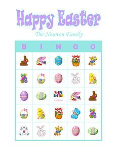 Personalized Easter Party Bingo Game Delivered by Email Easter Bingo, Easter Party Games, Bingo Games, Activity Games, Easter Activities, Birthday Fun, Happy Easter, Spring, Cards