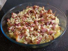 Batata com bacon ao