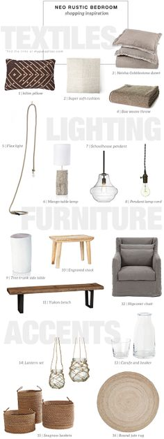 Shopping ideas for a neo rustic bedroom | My Paradissi