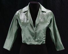 Silk Satin 1950s Jacket Size 7 to 8 Medium von vintagevixen