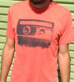 Orange Vintage Cassette T-Shirt | Men's Clothing | Urban Octopus | Scoutmob Shoppe | Product Detail
