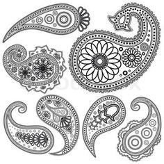 ideas: Paisley-vectors-2 | quilled | Pinterest | Paisley, Paisley ...