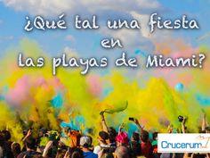 Diviértete como nunca en #Miami y toma tu próximo #crucero con #Crucerum. #fiesta #relajado #rumba #viajar #descanso #aventura #arte #historia #crucero #porelmundo Miami, Blog, Cruises, Adventure, Traveling, Beach, History, Party, Places