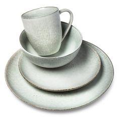 Threshold Belmont Stoneware 16pc Dinnerware Set Green - Threshold ...