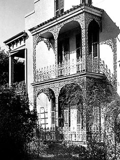 A stately Garden District mansion . This historic house, located at 1239 First Street, was previously owned by author Anne Rice and is the setting for her novel, The Witching Hour.