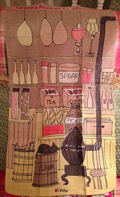 Vintage Vera Neumann Kitchen Linen Dish Towel Tea Towel General Store Fall Color   eBay