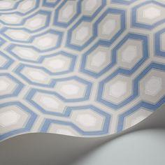 Hicks' Hexagon by Cole & Son - Blue - Wallpaper : Wallpaper Direct