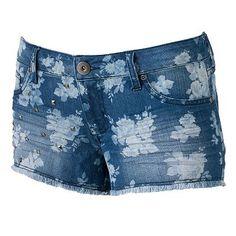 Mudd Floral Studded Shortie Shorts - Juniors