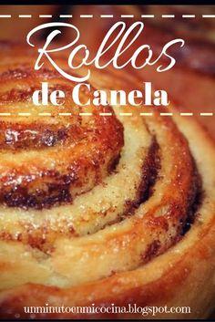 #Rollos de canela, #cinnamon rolls, #bakery.                                                                                                                                                                                 Más Bakery Recipes, Dessert Recipes, Cooking Recipes, Bread Recipes, Cinnabon, Homemade Tacos, Homemade Taco Seasoning, Homemade Donuts, Meat Recipes